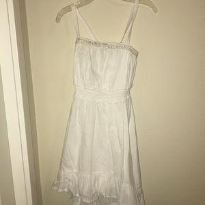 spaghetti strap white dress